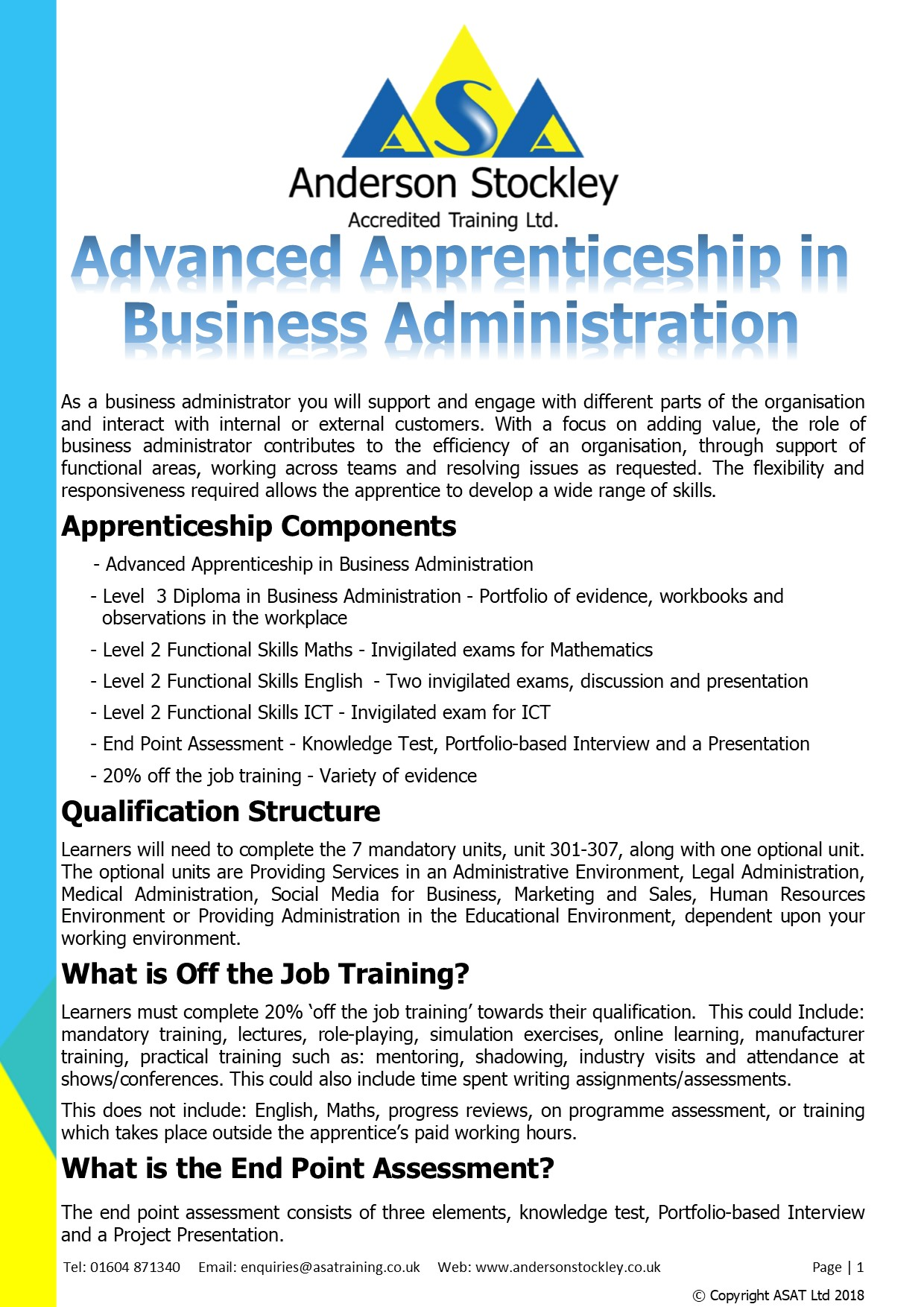 level 3 business administration apprenticeship